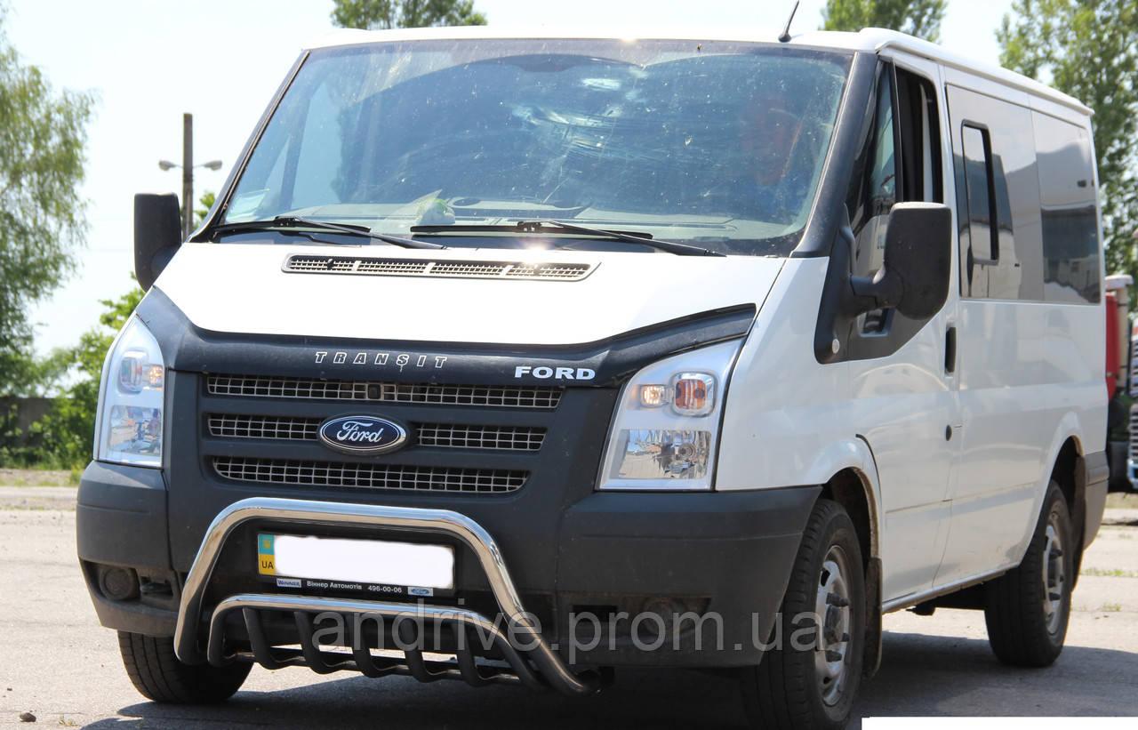 Кенгурятник подвійний (захист переднього бампера) Ford Transit 2006-2015