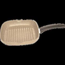 Сковорода-гриль антипригарная Talko 26 x 26 см светлый гранит