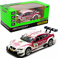 Машинка игровая автопром «BMW M3 DTM» металл, 15 см, красно-белый, свет, звук, двери открываются (7855), фото 1