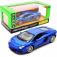 Машинка игровая автопром «Lamborghini avendador LP700-4 roadster», 18 см, свет, звук, синий (68254A), фото 1