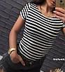 """Жіноча футболка у смужку тільняшка """"Естель"""", фото 9"""