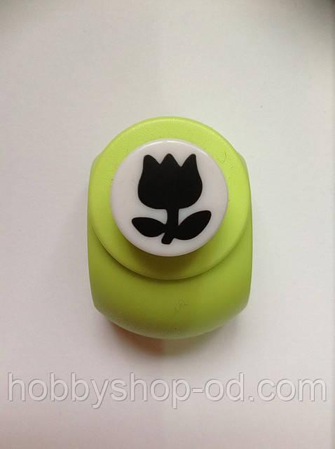 Дырокол фигурный Тюльпан кнопка 1,8 см