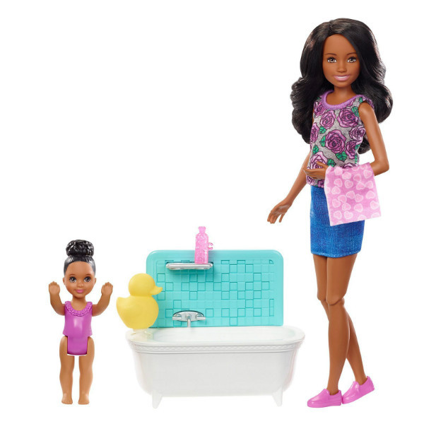 Barbie Барби сестры Шкипер няня время купаться FXH06 Skipper Babysitters Inc. Bathtime Playset