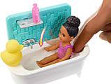 Barbie Барби сестры Шкипер няня время купаться FXH06 Skipper Babysitters Inc. Bathtime Playset, фото 3
