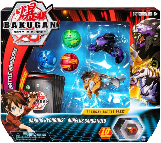Bakugan Battle Planet Набор из 5 бакуганов 6054981 Darkus Hydorous and Aurelus Gargarnoid