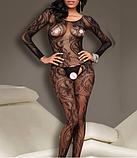 Эротическое белье. Эротический боди-комбинезон Passion ( 42 размер размер S), фото 3