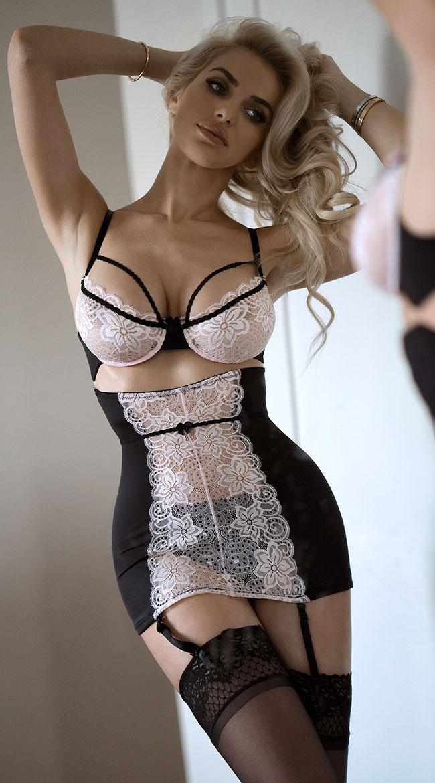 Сексуальное белье. Эротическое боди. Эротический комплект. черный(38  размер Размер XS)