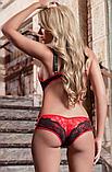 Эротическое белье Сексуальное белье. Эротическое боди. Эротический комплект красный.(46 размер Размер М ), фото 2