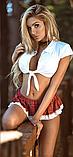 Эротическое белье Сексуальное боди Комплект белья Ролевые игры Игровой костюм Школьница (размер S размер 40) feer, фото 3
