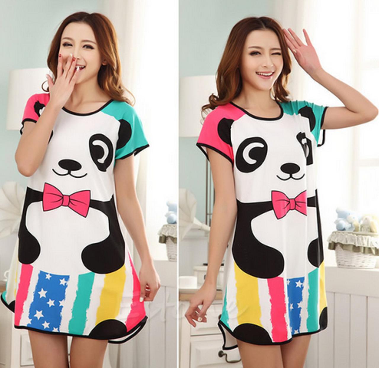 Домашнее платье с принтом ANNA  (46 размер,  размер M ) feer