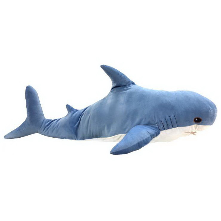 Акула, подруга Blahaj голубая, 85 см, «FANCY» (AKL3-2)