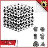 Магнитная игрушка головоломка конструктор антистресс Неокуб Neocube 216 шариков 5 мм, Магнитные шарики