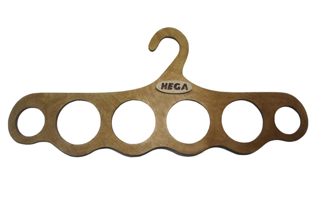 Вешалка Hega для платков шарфов и верхней одежды  деревянная надежная ПЛЕЧИКИ - для верхней одежды(50)