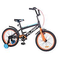"""Велосипед двух колесный TILLY FLASH 18"""" T- 21846 оранжевый"""