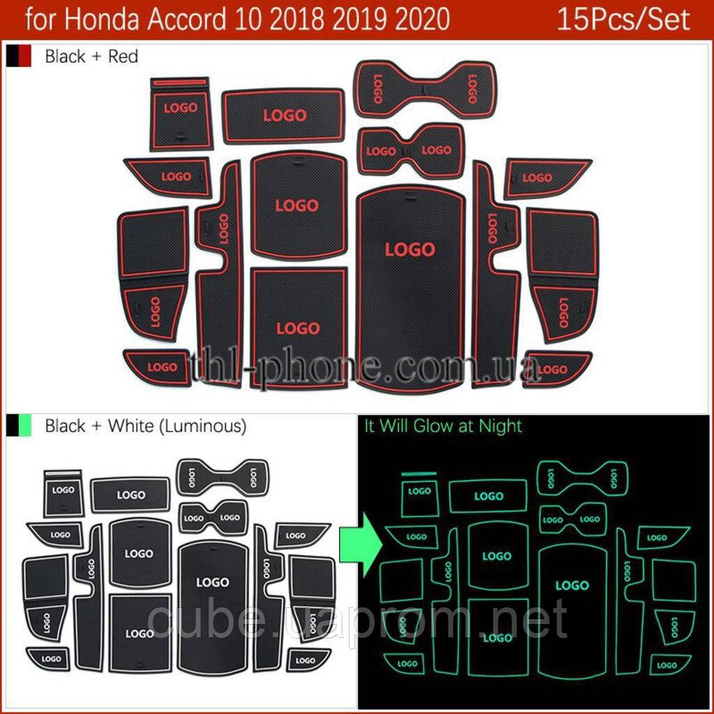 Килимок для Honda Accord X 10 10th MK10 противогрязевой гелевий гумовий