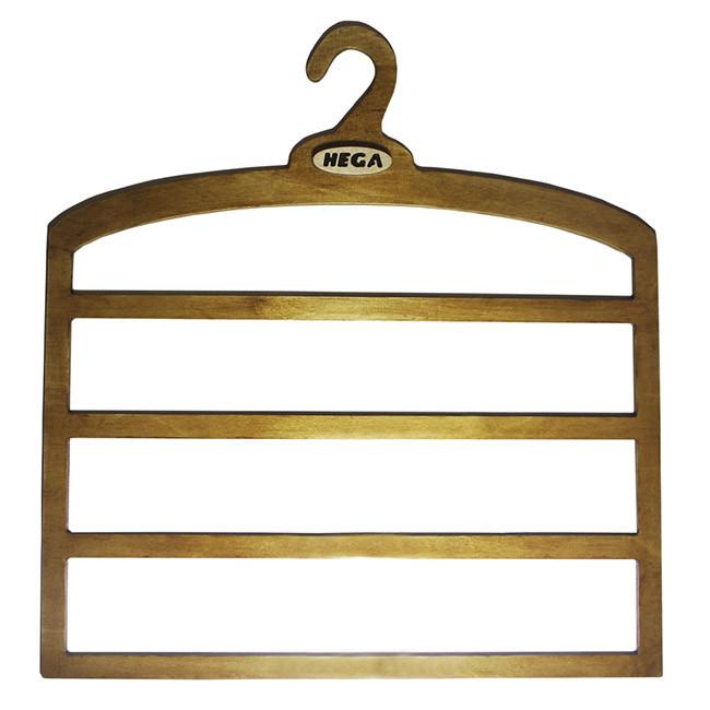 Вешалка  Hega для брюк и юбок четырехуровневая большая деревянная прочная -  ПЛЕЧИКИ - для юбок (53)