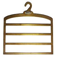 Вешалка  Hega для брюк и юбок четырехуровневая большая деревянная прочная -  ПЛЕЧИКИ - для юбок (53), фото 1