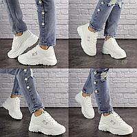 Женские белые кроссовки Heaven 1589 Резина  Размер 36 - 22 см по стельке, обувь женская