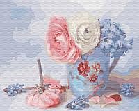 Рисование по номерам Нежные цветочки GX30785 Brushme 40 х 50 см (без коробки)