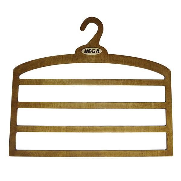 Вішалка HEGA для брюк і спідниць чотирирівнева дерев'яна міцна - ПЛЕЧИКИ