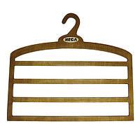 Вішалка HEGA для брюк і спідниць чотирирівнева дерев'яна міцна - ПЛЕЧИКИ, фото 1