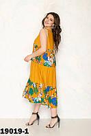 Красивое платье легкое женское  размеры 52-56