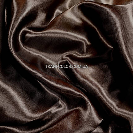 Ткань атлас стрейчевый шоколад, фото 2
