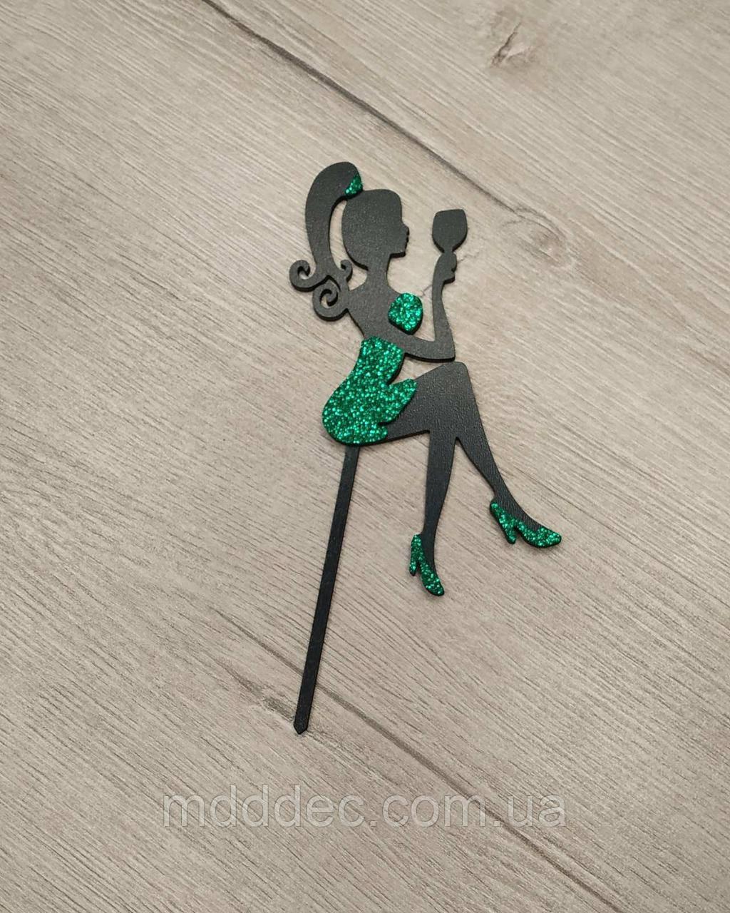 Топпера принцесса цветная.Зеленый