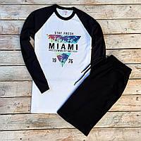Мужская кофта с длинными рукавами + шорты Miami. Мужской летний костюм. ТОП качество!!! Реплика