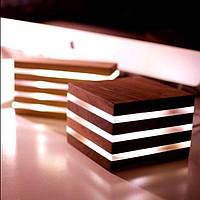 Светильник из дерева, деревянный светильник, светильник из оргстекла, светильник