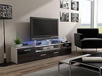 ТВ тумба EVORA 194 білий/чорний (CAMA)