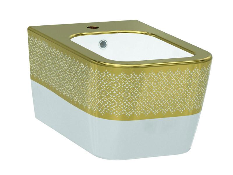 Биде IDEVIT белый/декор золото Halley 3206-2605-1101