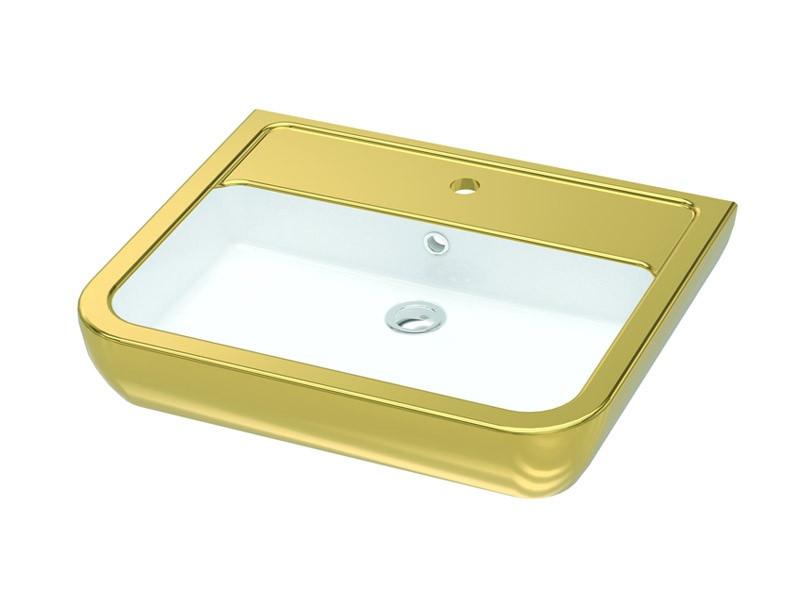 Умывальник IDEVIT 60 см золото Halley 3201-0455-11