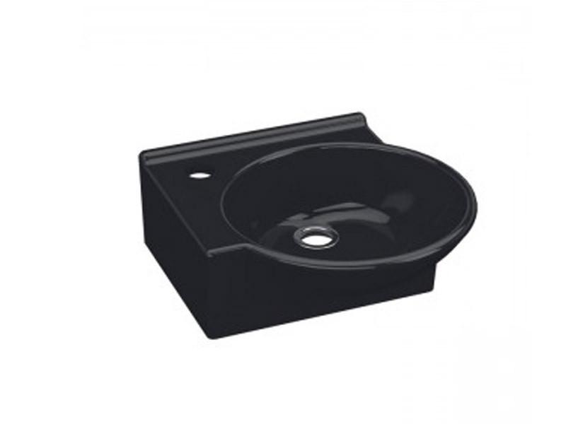 Умывальник IDEVIT 36 см черный, левый Myra Mini 0201-0367-07