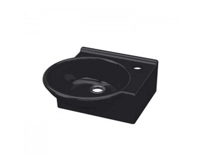Умывальник IDEVIT 36 см черный, правый Myra Mini 0201-0365-07