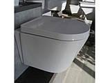 Чаша подвесного унитаза Rimless с сиденьем NEWARC белый Life 9823W, фото 2