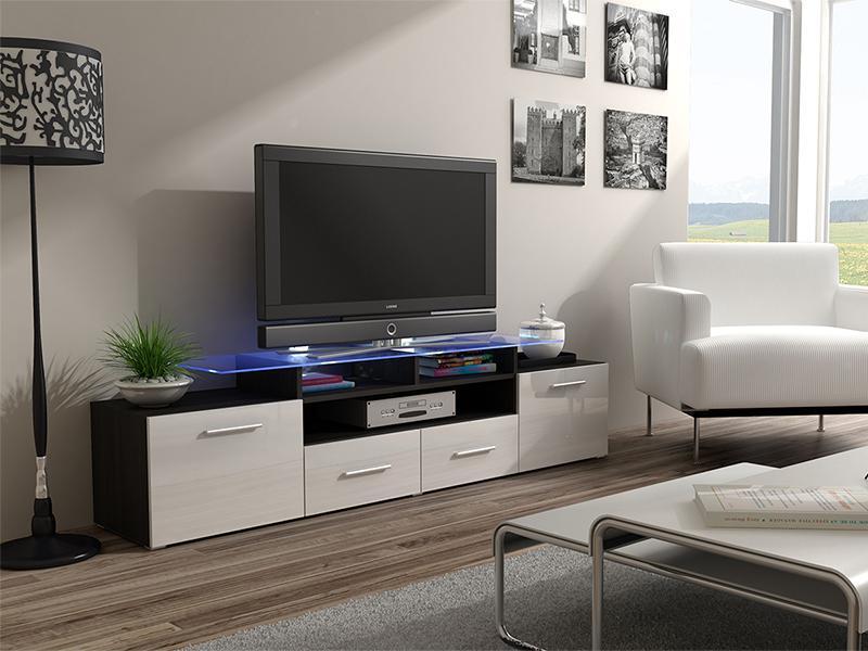 ТВ тумба EVORA 194 чорний/білий (CAMA)