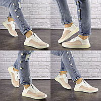 Женские прозрачные кроссовки белые Ibiza 1201  эко-кожа силикон  Размер 41 - 26 см по стельке, обувь женская