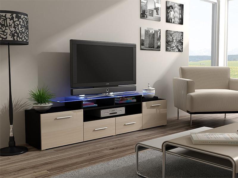 ТВ тумба EVORA 194 черный/кремовый (CAMA)