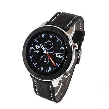 Смарт-часы NO.1 DT78 Leather Band Silver-Black