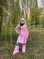 Халат одноразовый розового цвета спанбонд
