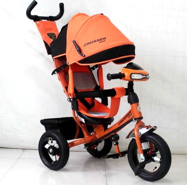 Триколісний велосипед Crosser One T1 AIR помаранчевий