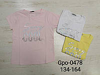 Футболка для девочек оптом, Glo-story, 134-164 см,  № GPO-0478, фото 1