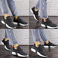 Женские серые кроссовки Iggy 1526 Сетка  Размер 39 - 24,5 см по стельке, обувь женская