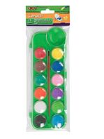 Краски акварельные 12 цветов, с кисточкой, салатовый ZB.6559-15, ZiBi