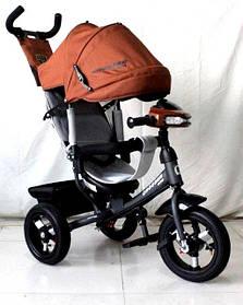 Трехколесный велосипед Crosser One T1 AIR коричневый