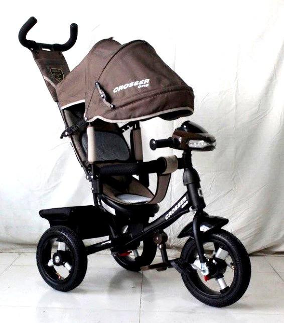 Трехколесный велосипед Crosser One T1 AIR шоколадный