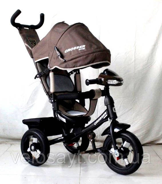 Триколісний велосипед Crosser One T1 AIR шоколадний