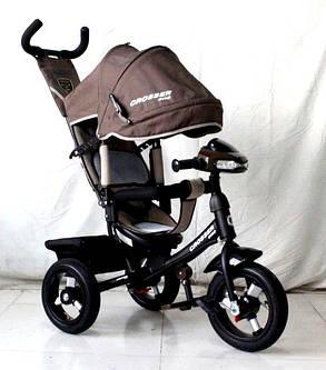 Трехколесный велосипед Crosser One T1 AIR шоколадный, фото 2