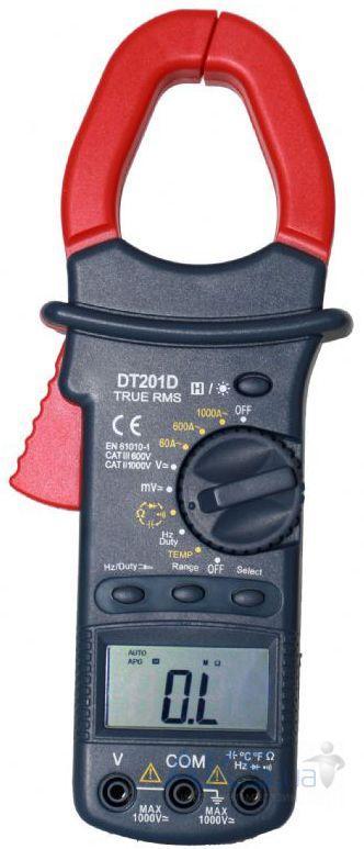 DT201D, 1000A AC, токоизмерительные клещи, с функцией мультиметра,возможна калибровка в УкрЦСМ